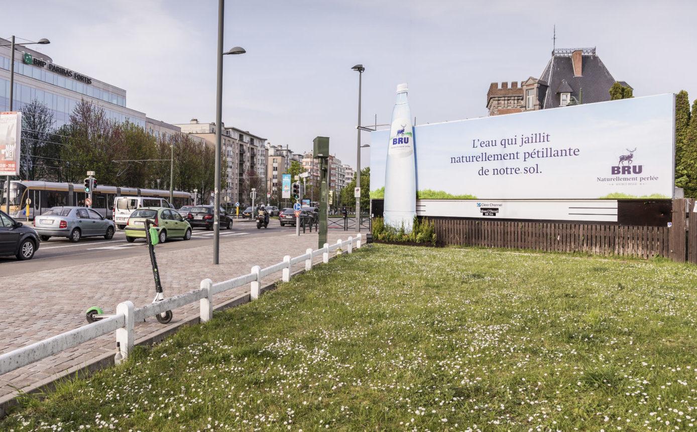 Bru Advertising billboard