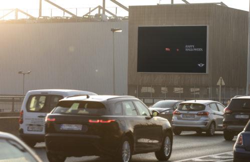 Mini advertising screen